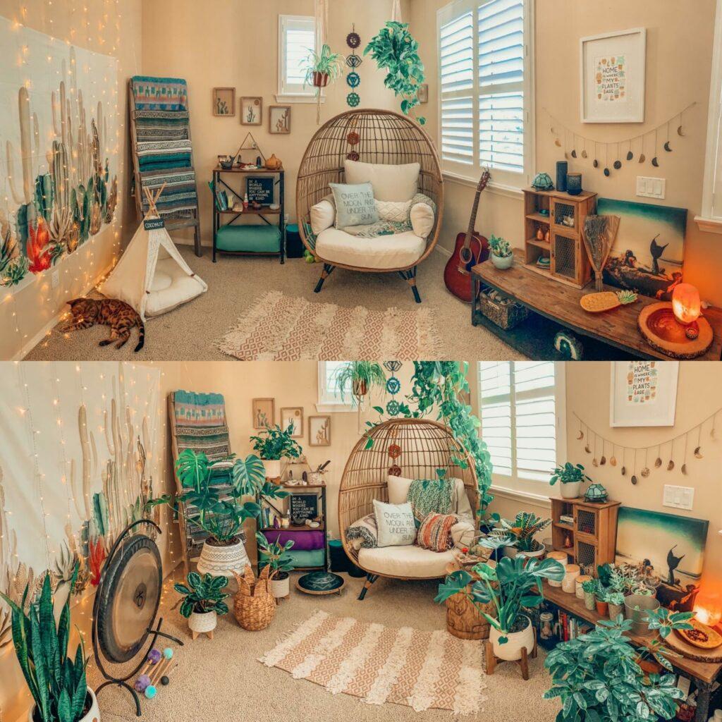 boho meditation room